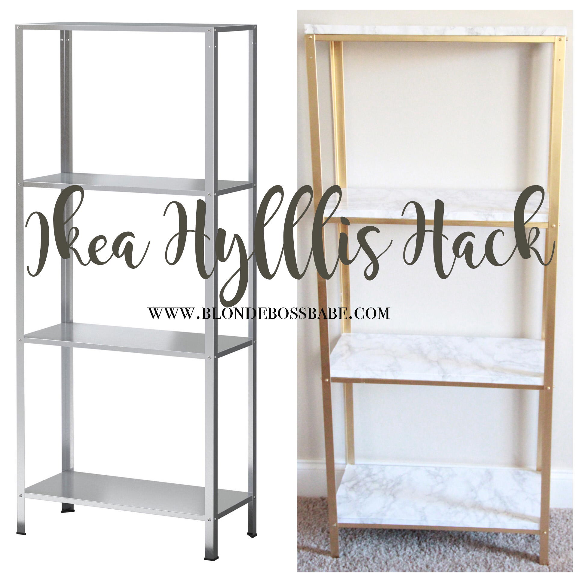 Gold and marble ikea hyllis hack blonde boss babe for Email ikea com