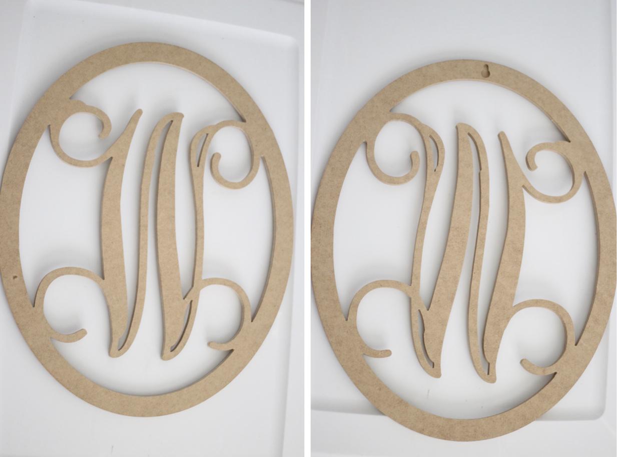 monogram diy