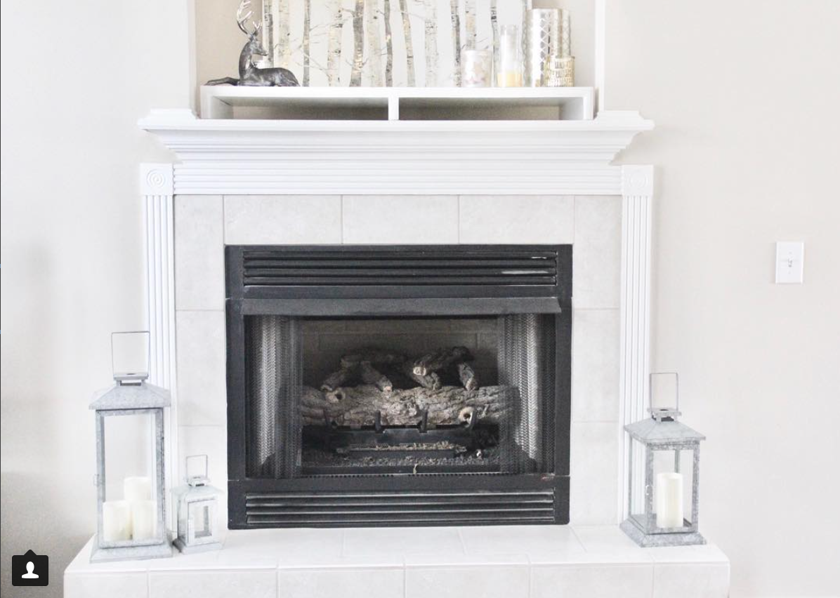 neutral simple winter mantel