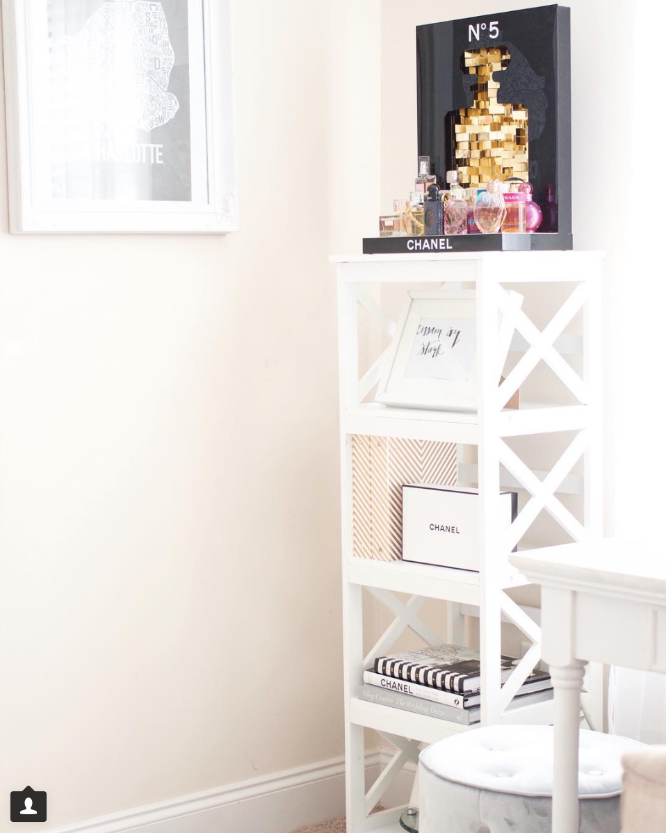 white home office shelves