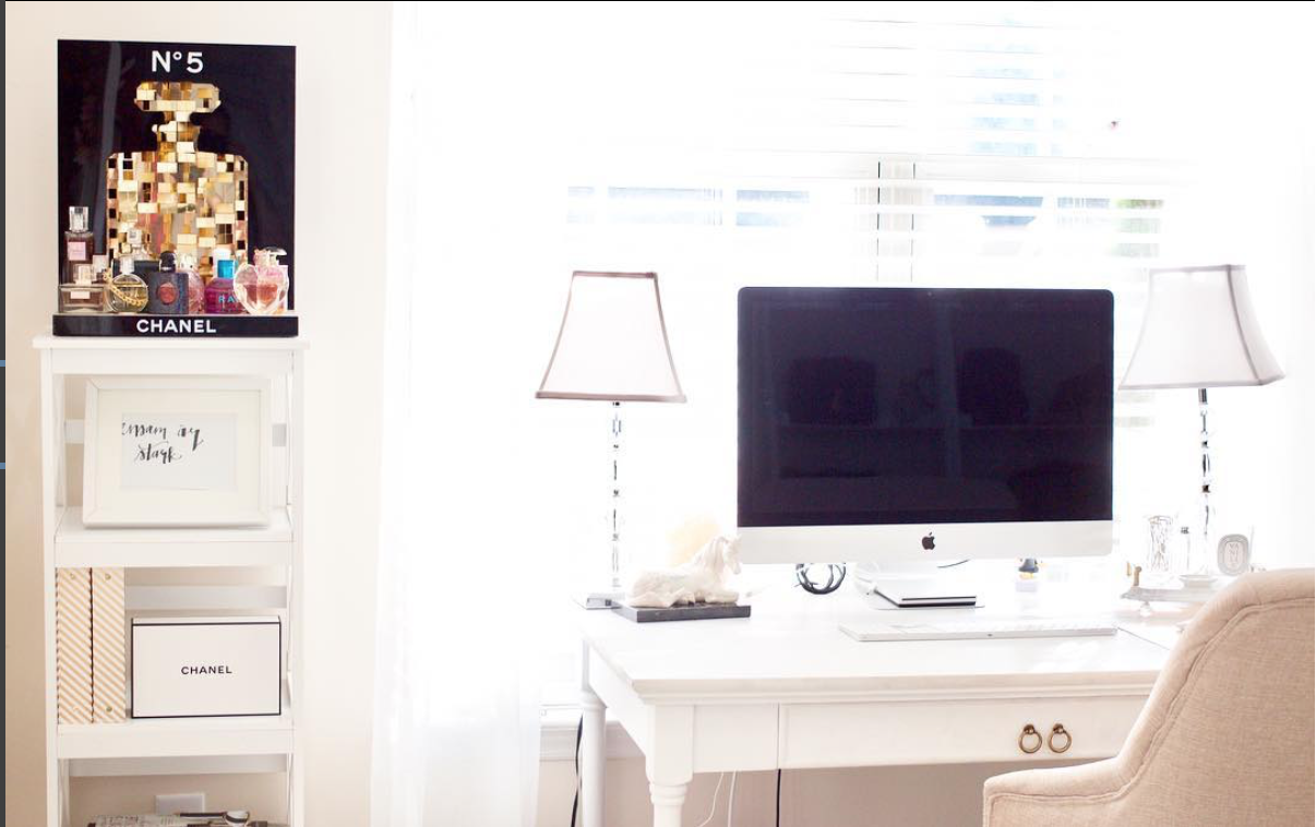 bright home office organization