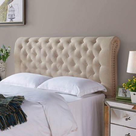 beautiful tufted headboard