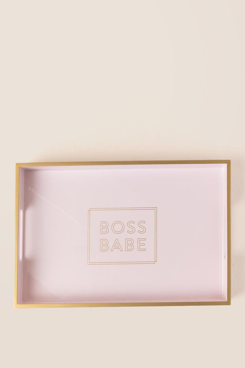 boss babe tray