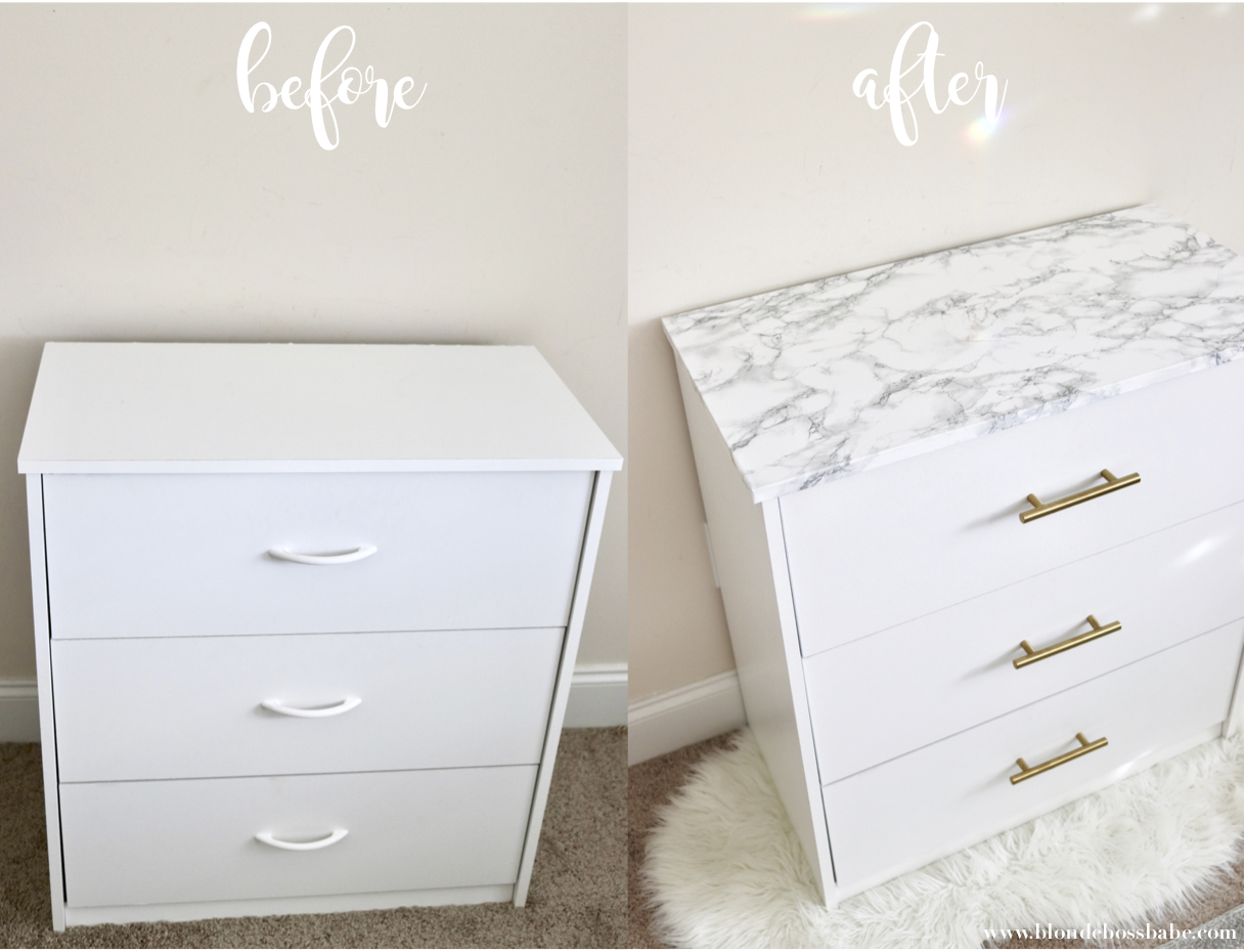 marble and gold drawer hack