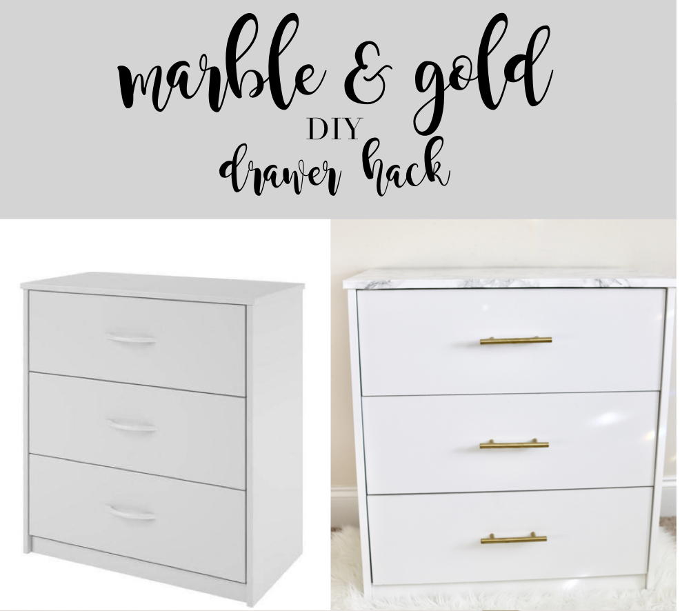 marble gold diy