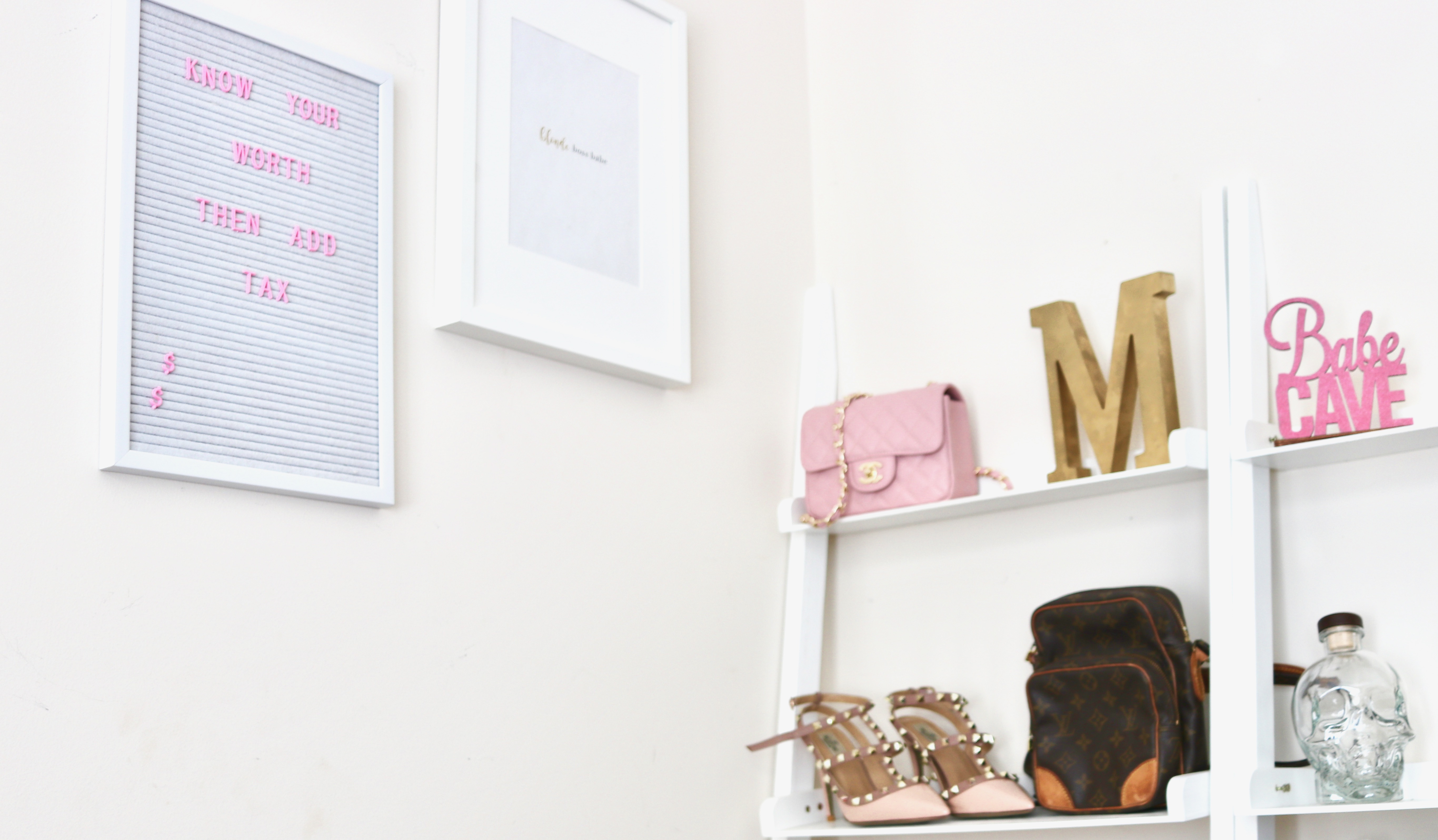 white pink letter board