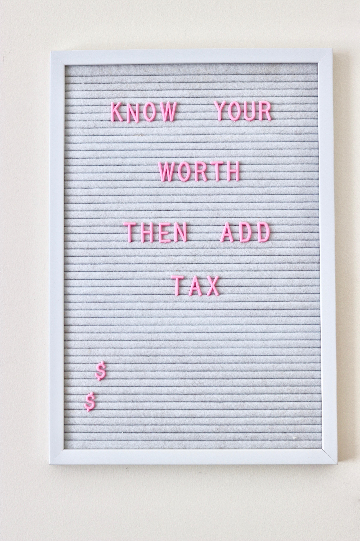 white felt letter board