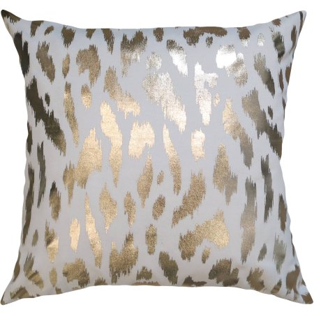 gold cheetah pillow