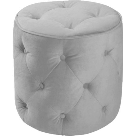 velvet tufted pouf
